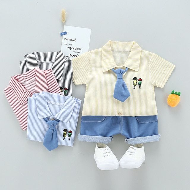New Summer baby Sport suit 100% cotton fashion design baby boys clothing set 1 2 3 Years Old Brand shirts  2pcs free shipping