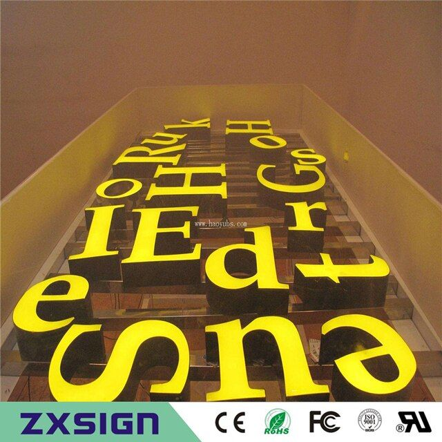 Factory Outlet Exterior waterproof super high brightness led letter sign, store name sign