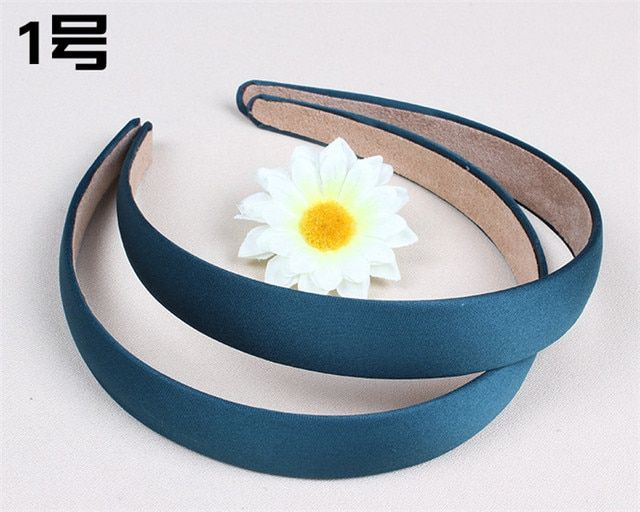 Lady Satin Headband Hair Band Alice Band Hairband bow 2 cm Wide