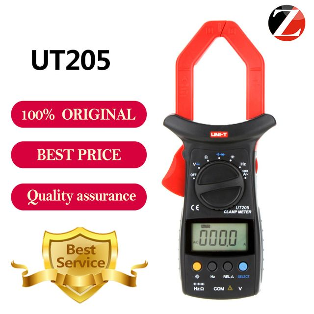 UNI-T UT205 Digital Auto Range Capacitance 1000A 600V Clamp Meter Digital Clamp Multimeters