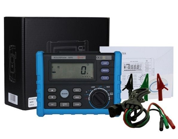 Alp01 professional LOOP/RCD tester Trip-out Time & Current Voltage Frequency Loop Resistance Measurement
