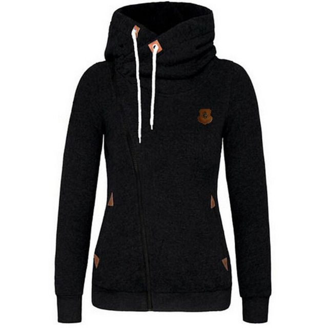 2016 New Arrival Thickening Fleeces Sweatshirts For Women Hooded Hoodies Candy Colors Solid Sweatshirt Long Sleeve Side Zip Up