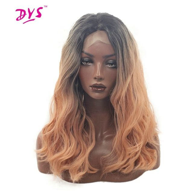 Deyngs Long Loose Wave Synthetic Lace Front Wigs For Black Women With Middle Part Hairline Heat Resistant 180% Density Lace Hair