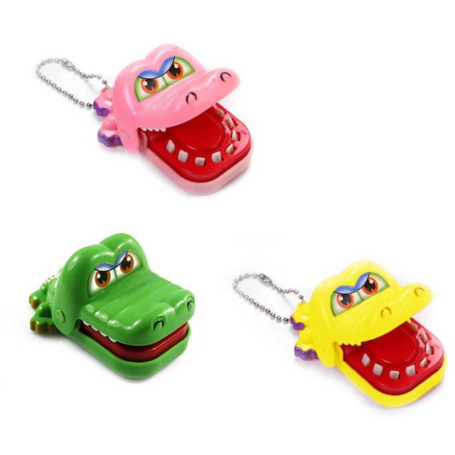 2017 New Kids Toy Crocodile Dentist Bite With Keychain Mouth Novelty Children Toys  YH-001