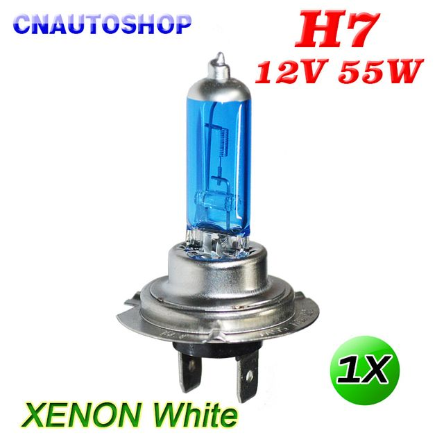 Hippcron H7 Halogen Bulb 12V 55W Xenon Bright Dark Blue Quartz Glass Car Headlight Super White Auto Lamp