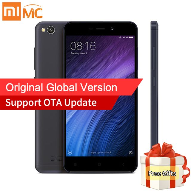 "Global Version Xiaomi Redmi 4A 4 A Mobile Phone 2GB 32GB Snapdragon 425 Quad Core 5.0"" HD Display 4G FDD LTE 13.0MP OTA Update"