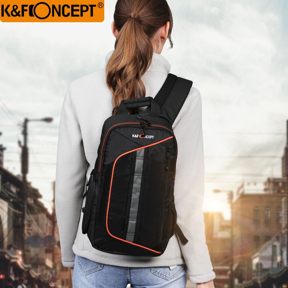 K&F Concept Camera Backpack Sling DSLR Bag Case Waterproof Travel Shoulder Bags+Rain Cover For Canon Sony Nikon Camera DSLR
