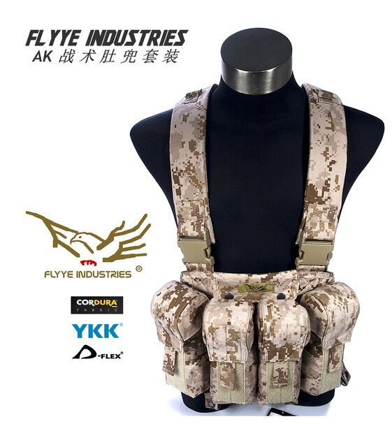 FLYYE LBT AK Chest Rig Camouflage Hunt Vest CS Hunting Military Tactical Vest Wargame Body Molle Armor Outdoor CQB CQC VT-C006