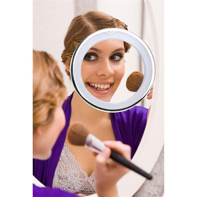 Adjustable 7x Magnification Lady Beauty LED Makeup Mirror Light 360-Degree Free Rotation LED Lights Cosmetic Mirror Table Lamp