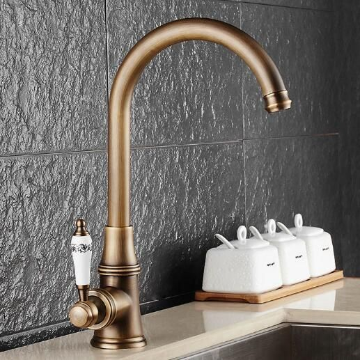 Free Shipping kitchen faucet antique water tap hot and cold water mixer luxury basin sink mixer tap wash basin faucet