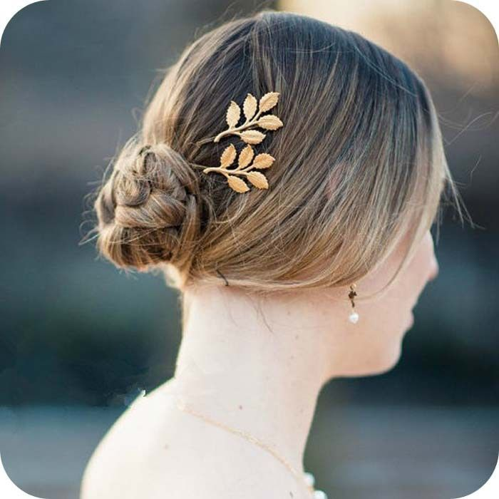 1 pc Fashion Women's Gold Leaf Hair Clip Hair Accessories hair jewelry head jewelry acessorios para cabelo  CF072 coupon