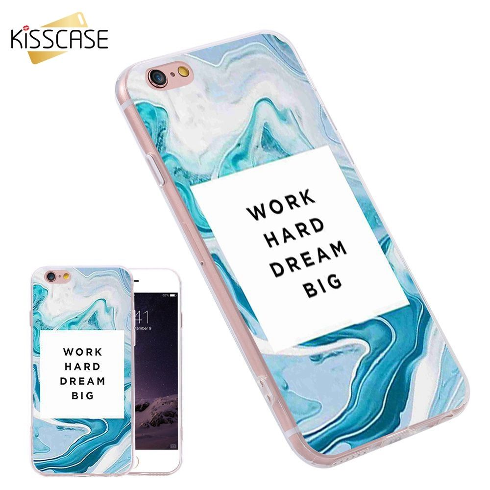 KISSCASE Case 3D Printed For iPhone 7 6 6s Plus Cover For Samsung S6 S7Edge Plus Note A7 J7 S5 Silicone TPU Text Pattern Shells