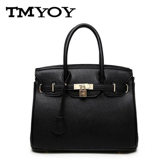 TMYOY Luxury Lock Rivet Ladies Leather Tote Hand Bag New Designer Handbags High Quality Women Shoulder Bags Messenger Bag BG578