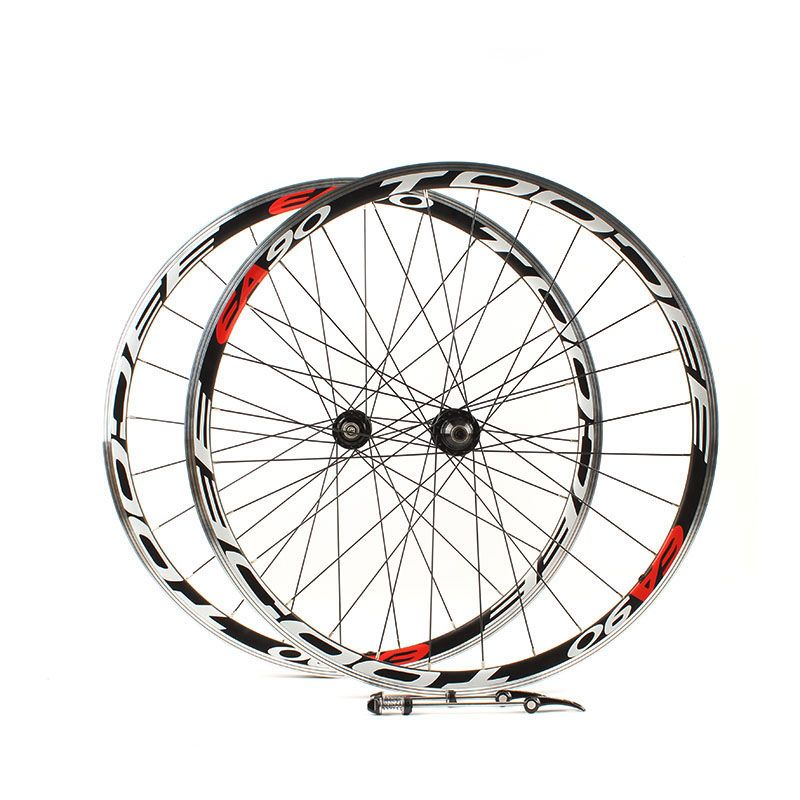 Road bike 700C wheelset racing wheels 700C road wheels Peilin Ka formula two front and rear hubs Bearing wheels