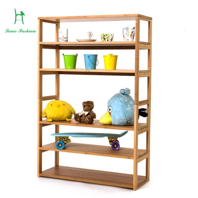 Solid bamboo storage receive improvised clapboard shelf water the be born bookcase