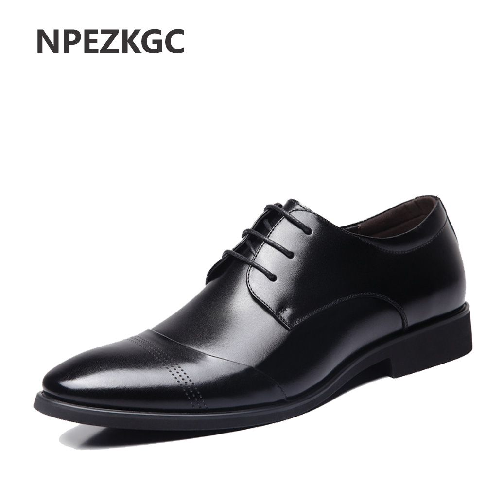 NPEZKGC Hot Sale New oxford shoes for men Fashion Men Leather Shoes Spring Autumn Men Casual Flat Patent Leather men shoes