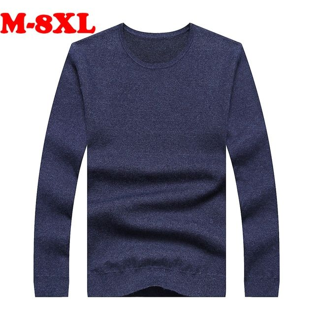 8XL 7XL 6XL 5XL 4XL 3 Plus Size Brand 2016 New Autumn Winter Casual SweaterMen Fashion long Sleeve pullovers Clothes Fat Big Men
