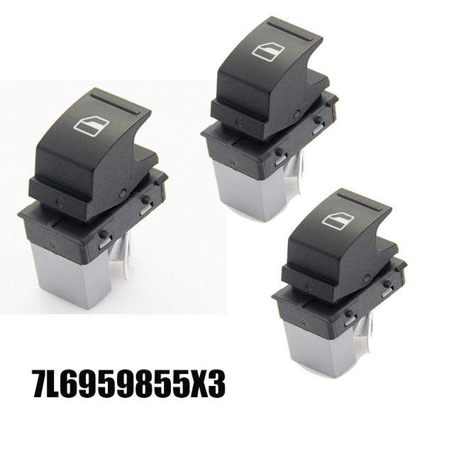 7L6 959 855 7L6 959 855B Power Window Switch Single Auto Botton New Electric Control Master Switches For VW Golf Jetta Seat Leon