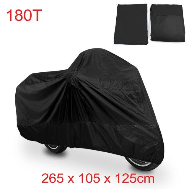 UXCELL Xxl 180T Rain Dust Motorcycle Cover Black Outdoor Waterproof Uv Protector