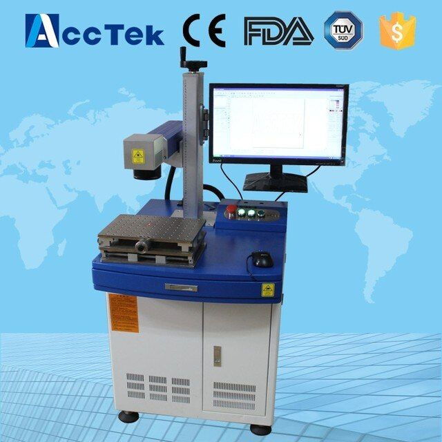 AK20F Factory supplier 20w 30w mini portable fiber laser source jewelry laser marking machine