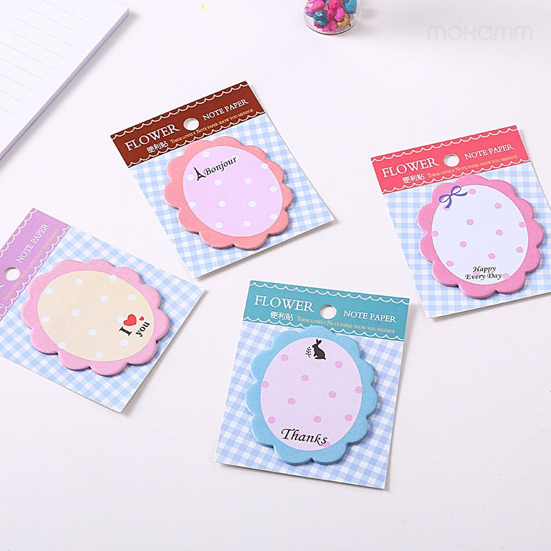 Flower Kawaii Sticker Cute Scrapbooking Stickers  Stationary Japanese Memo Pads Notepads School Office Supplies