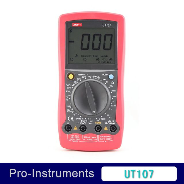 UNI-T UT107 LCD Handheld Automotive Multi-Purpose AC/DC Testers Voltage Temp Multimeters Voltmeter Resistance Frequency Tester
