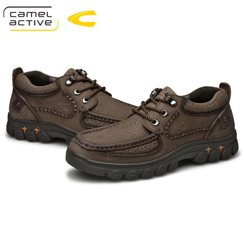 Camel Active New Trekking Shoes for Men Waterproof Hiking Shoes Genuine Leather Men Mountain Shoes Outdoor Shoes 18216
