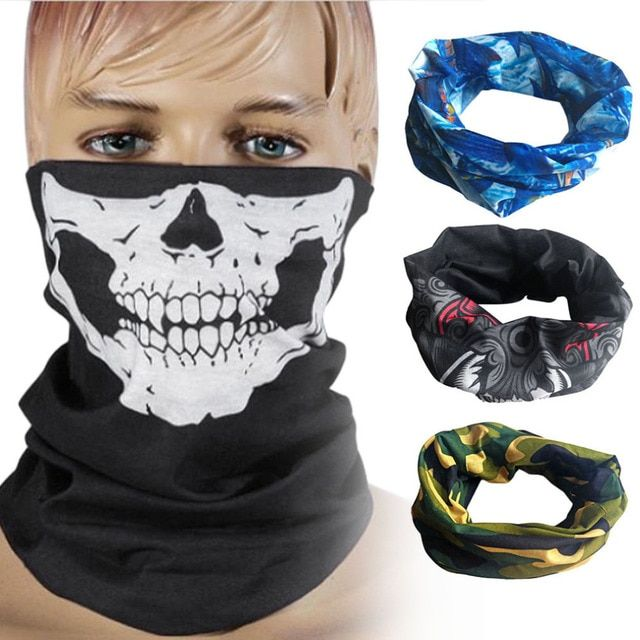 ew Skull Mask Skeleton Balaclava Ghost Tactical Motorcycle Breathable Outdoor Sports Ski Cycling UV Protect Skull Face Mask New