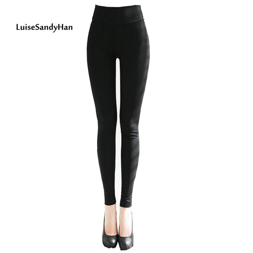 2015 Spring Fashion Leather Pants Weave Patchwork Slim Fit Elastic Black Women Pants Plus Size XXL!Free Shipping!