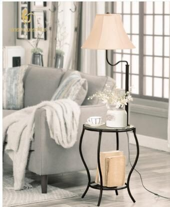 Tea table, sofa shelf floor lamp