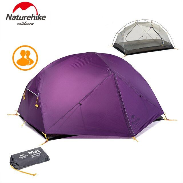 Naturehike Outdoors Camping Tent Double Layer barraca ultralight 2 person Rainproof Hiking Beach Tents 1.81kg 3 Colors Mongar