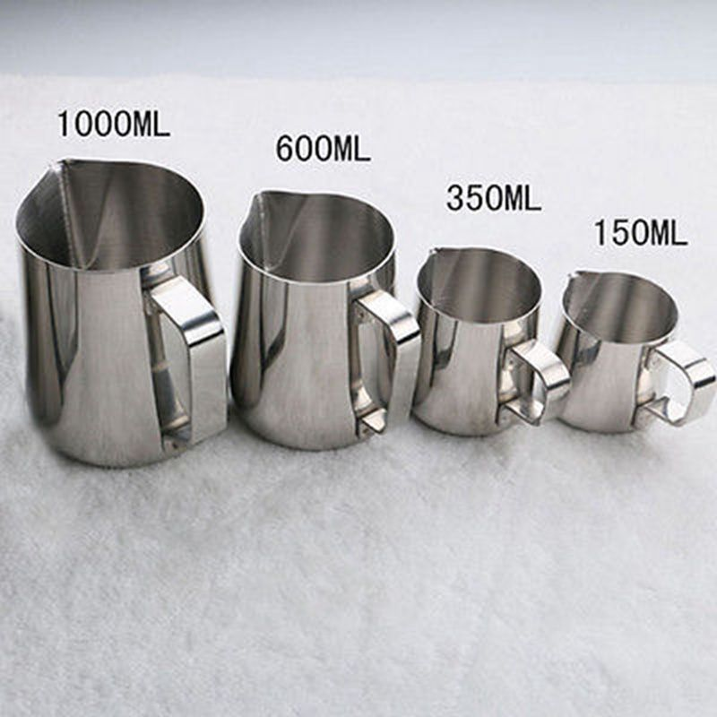 Stainless Steel Espresso Coffee Pitcher Craft Latte Milk Frothing Jug Mugs