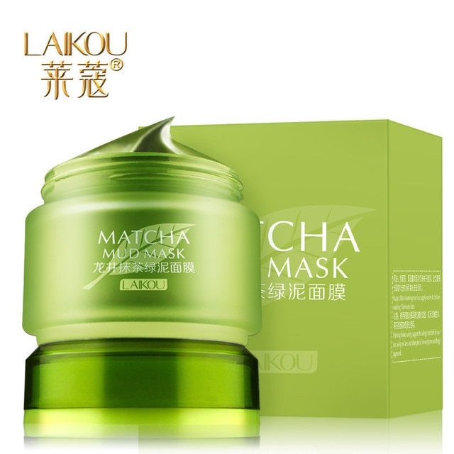 LAIKOU Longjing Green Tea Sleeping Mask Acne Treatment Face Care Cured Blackheads Whitening moisturizing facial mask