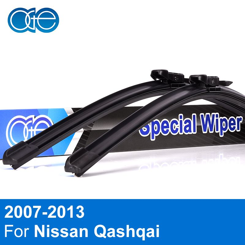 OGE Front And Rear Wiper Blades For Nissan Qashqai Dualis 2007 2008 2009 2010 2011 2012 2013 Windscreen Rubber Car Accessories