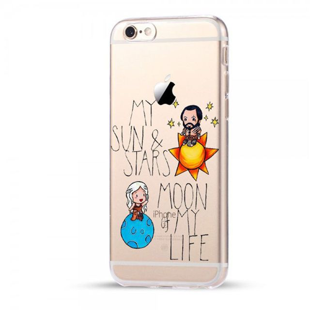 Daenerys Khal Drogo Phone Cases Cover For iPhone 8 Plus X 5 5S SE 6 6S Plus Transparent Hard PC Case