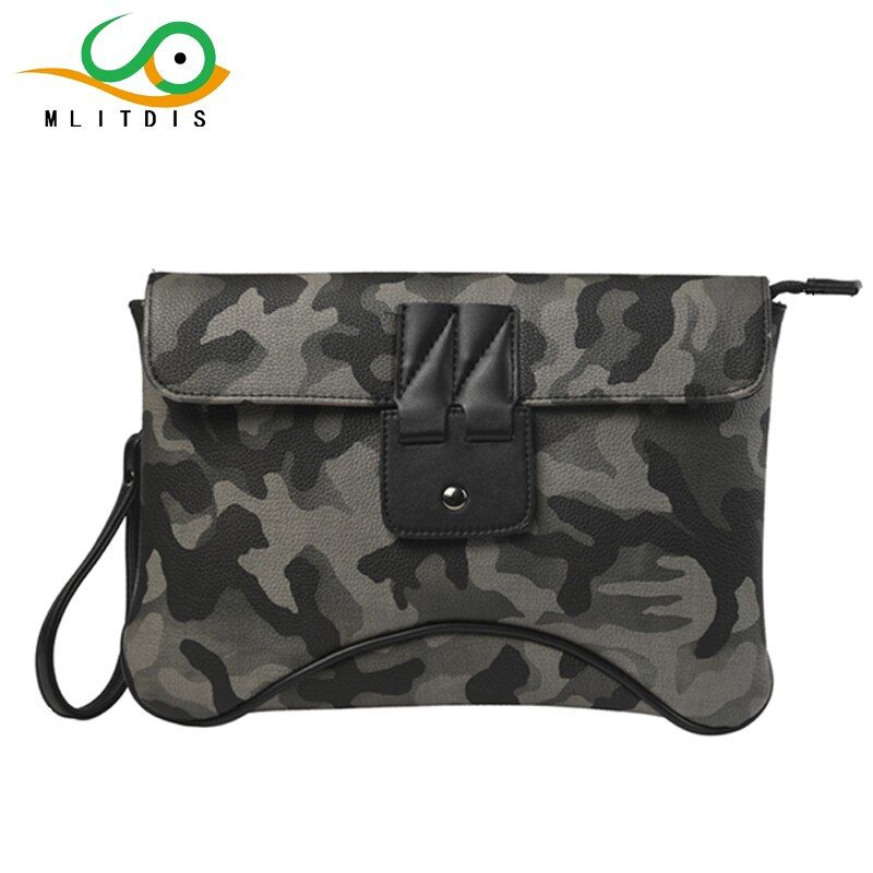 MLITDIS Army Camouflage Leather Bags Mens Shoulder Bags Envelope Clutch Bag Fashion Crossbody Messeng Sac A Main Femme De Marque