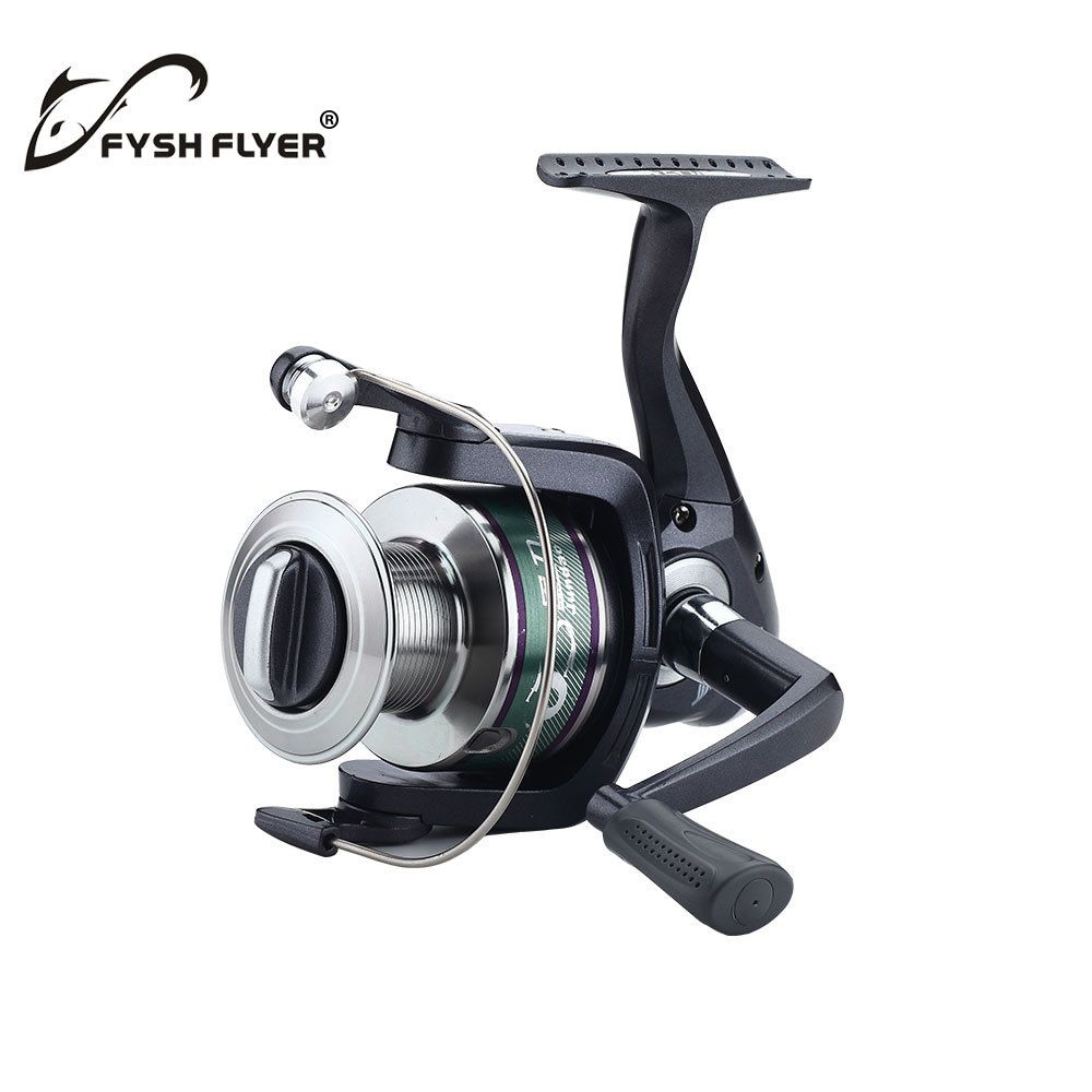 Fishing Professional Spinning Reel;  5 BB; 5.1:1 Double-color Aluminum Spool; Non-slip Knob; Dark Blue Available, Free Shipping