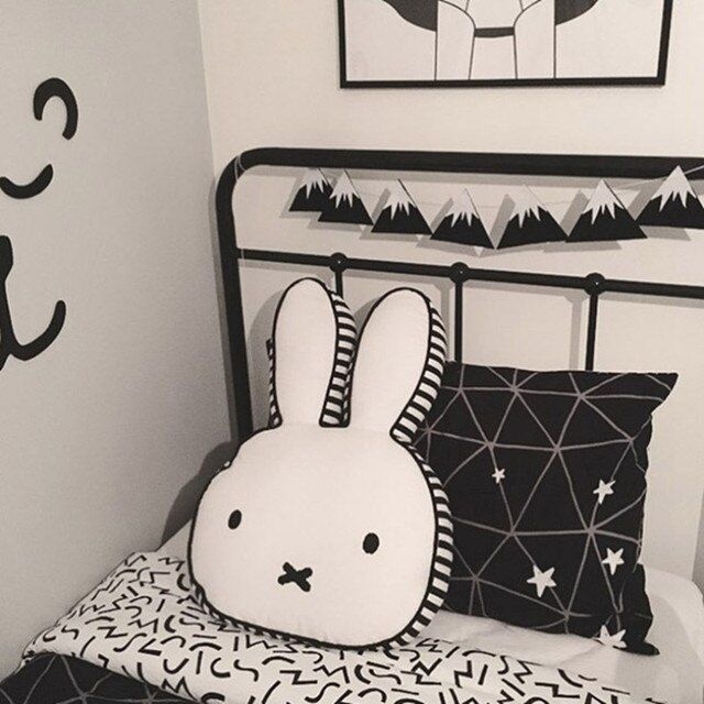 Baby Rabbit Pillow cases Baby Room Decoration Infant Pillow Boys Girls Photoprops Pillow Cases
