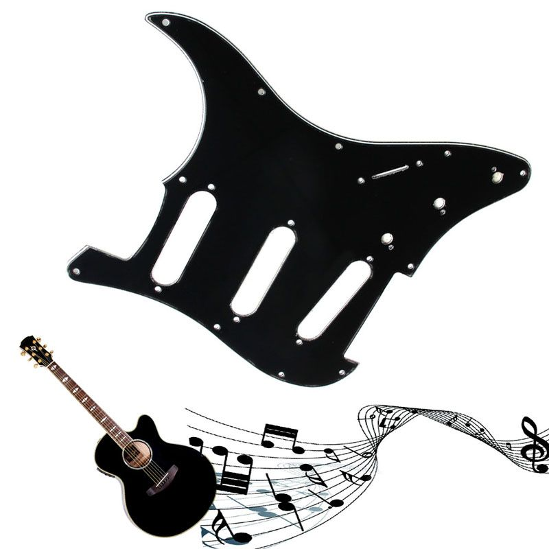 Tinfoil Guitar Pickguard 3 Ply Electric Guitar Pickguard Scratch Plate For Strat  Black Instruments & Gear