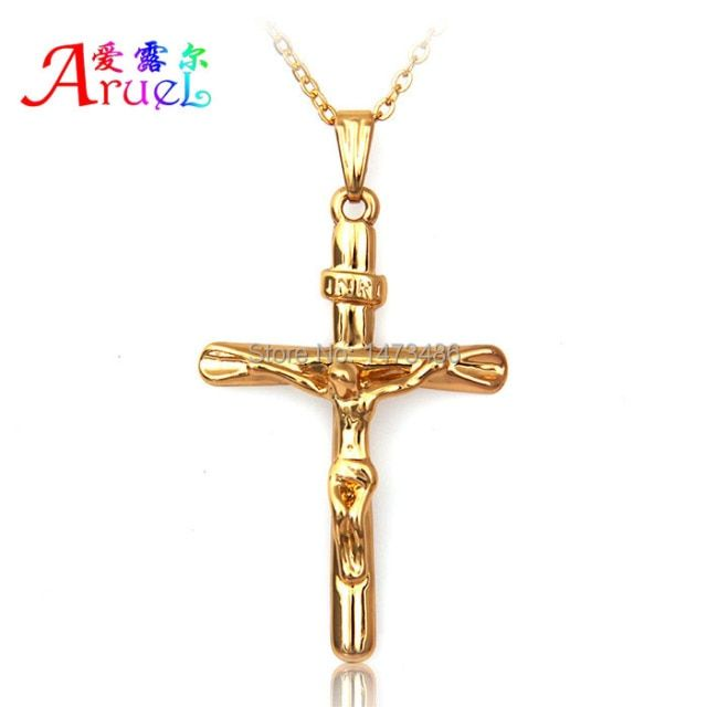 unisex gargantilha Collar Jewelry Necklace Women men Silver gold chain Pendants Cross crucifix necklace&pendants colar masculino