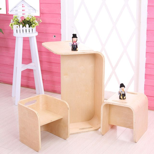 Multifunctional furniture combination dinette chairs Kindergarten children learning game table type