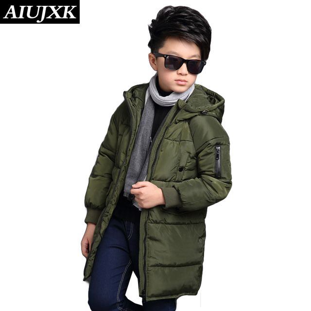 -30 Degree Children'S Winter Jacket Cotton Clothing Children'S Clothing 2016 Big Boy Warm Winter Thickening Coat OUMU300