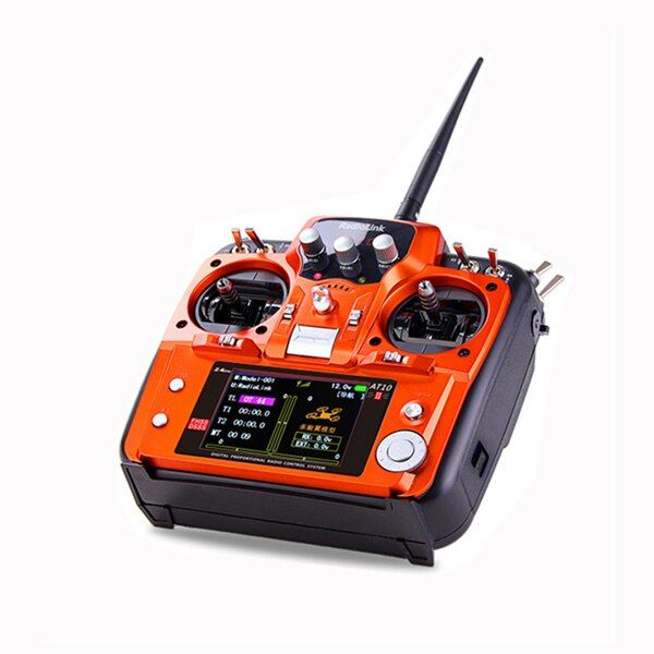 RadioLink 2.4GHz 12-Channel AT10 II V2 Radio Remote Control System Set with Receiver for RC Airplane Multicopter