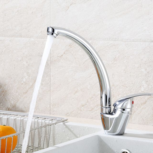 jooe rotation kitchen faucet cold and hot mixer water grifo high quality brass kitchen tap chrome polished torneira cozinha