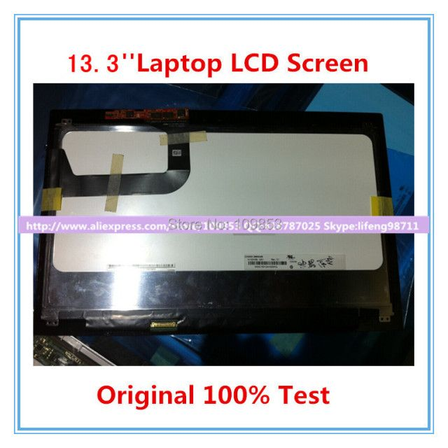 "13.3""Laptop lcd slim led screen  N133HSE-EA1 N133HSG-F31 LCD Assembly with Touch For ASUS U38N IPS  1920*1080"
