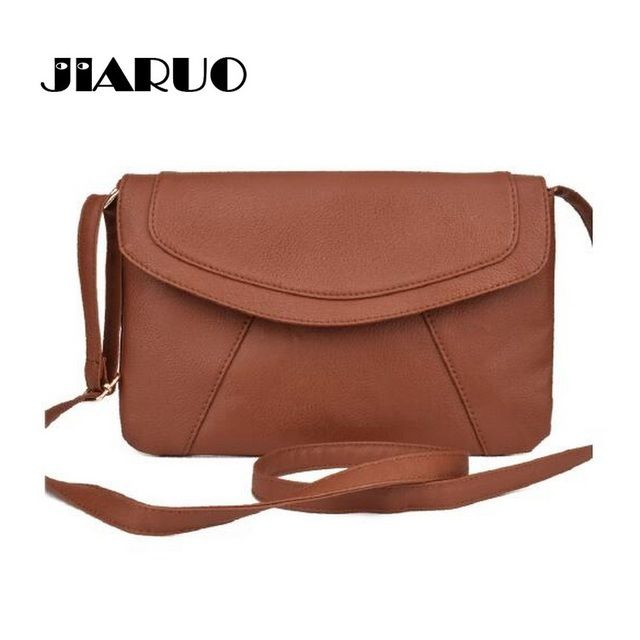 JIARUO PU leather Women Envelope Messenger bags Slim Crossbody Shoulder bags Handbag Small Cross body bags Satchel Ladies Purses