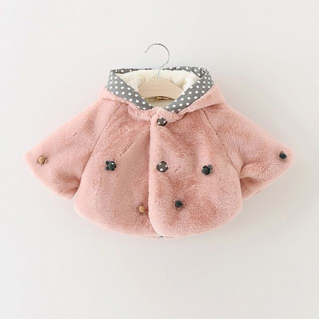Baby girls winter clothes 2016 new Korean wool coat is soft and comfortable flowers