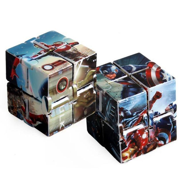The Avengers Captain America Infinity Cube Creative Fidget Princess Desk Spin Magic Cubes Anti-stress Toys Gifts For Kids