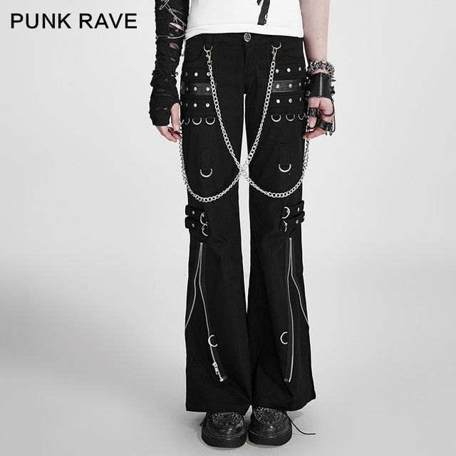 Punk Rave Gothic womens mens harem pants Trousers hip hop Casual Visual Kei Rock S-5XL