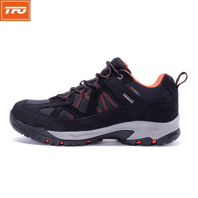 TFO Men Mountain Climbing Shoes Waterproof  Breathable Sneakers Male Hiking Shoes Genuine Leather Outdoor Men's Shoes